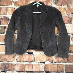 St Johns Bay Brown Suede Leather Jacket Medium